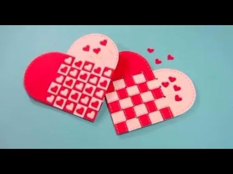 video tutorial  Scandinavian woven heart great for - valentines day cards