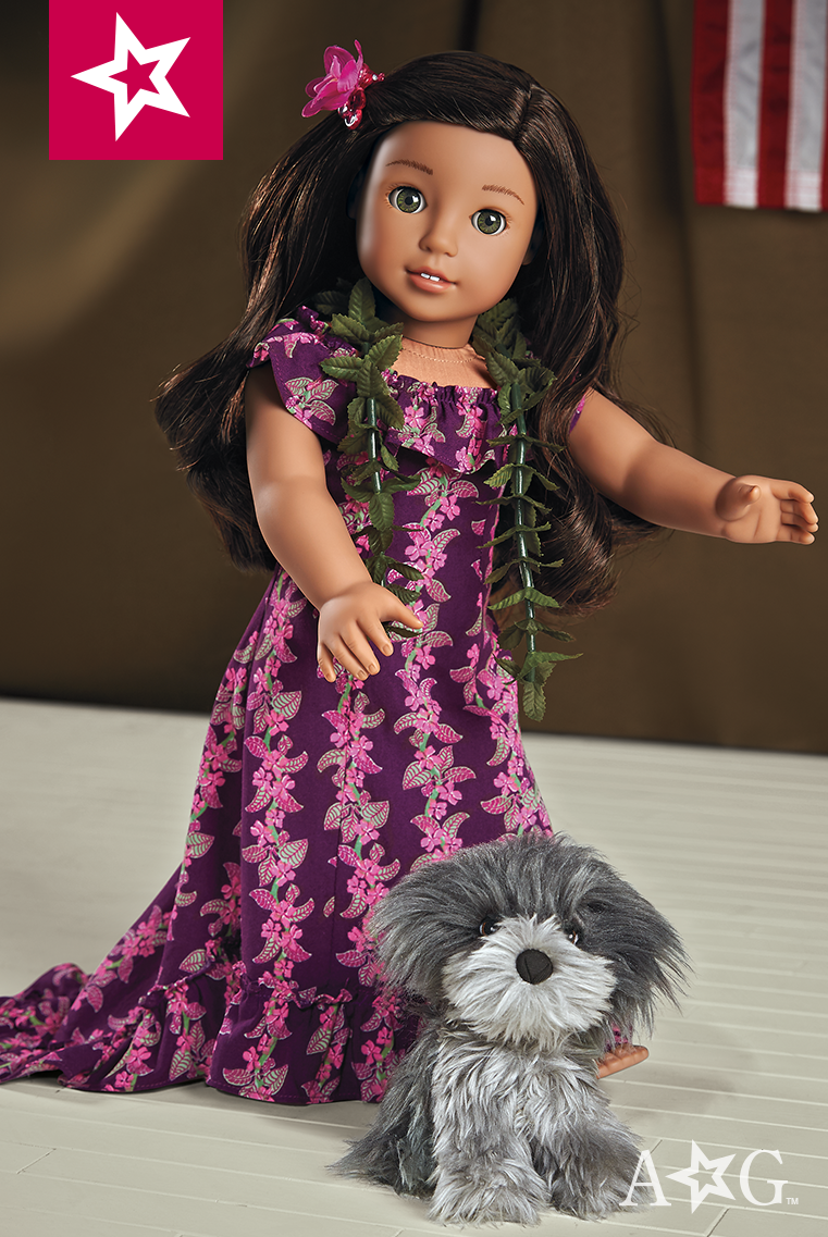 c50f72e6ef539 Nanea feels very grown-up in this special hula costume that has a long  train for slower dances. She wears it to perform at the USO. $34