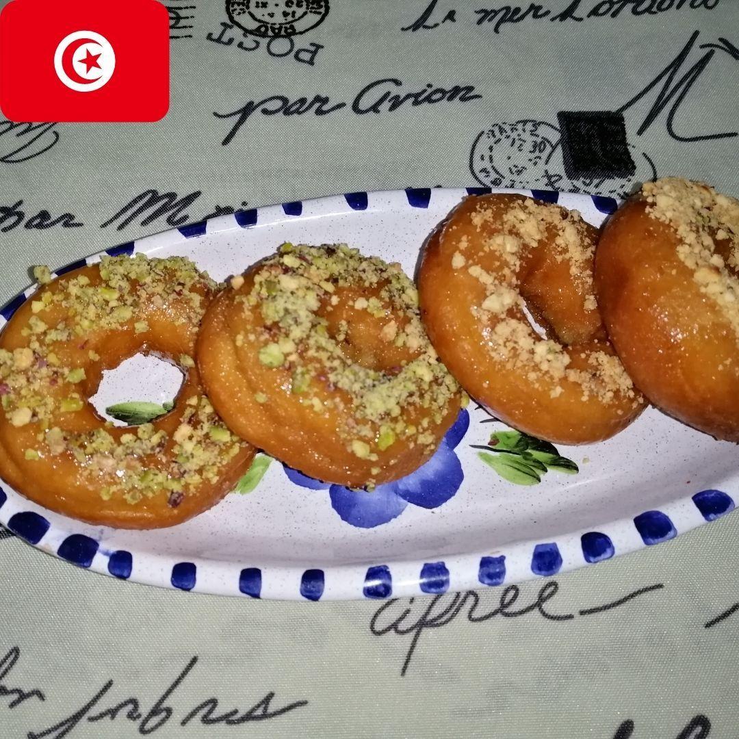 Tunisian Doughnuts Yo Yos Recipe طريقة عمل اليويو التونسي يويو تونسي بنين و خفيف في الحجر الصحي In 2021 Recipes Food Desserts