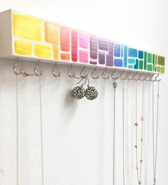 Jewelry Organizer Rainbow Rainbow Wall Decor rainbow jewelryholder