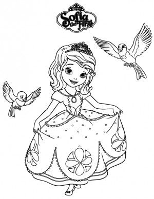Sofia The First Robin And Mia Coloring Pages Colorear Pinterest