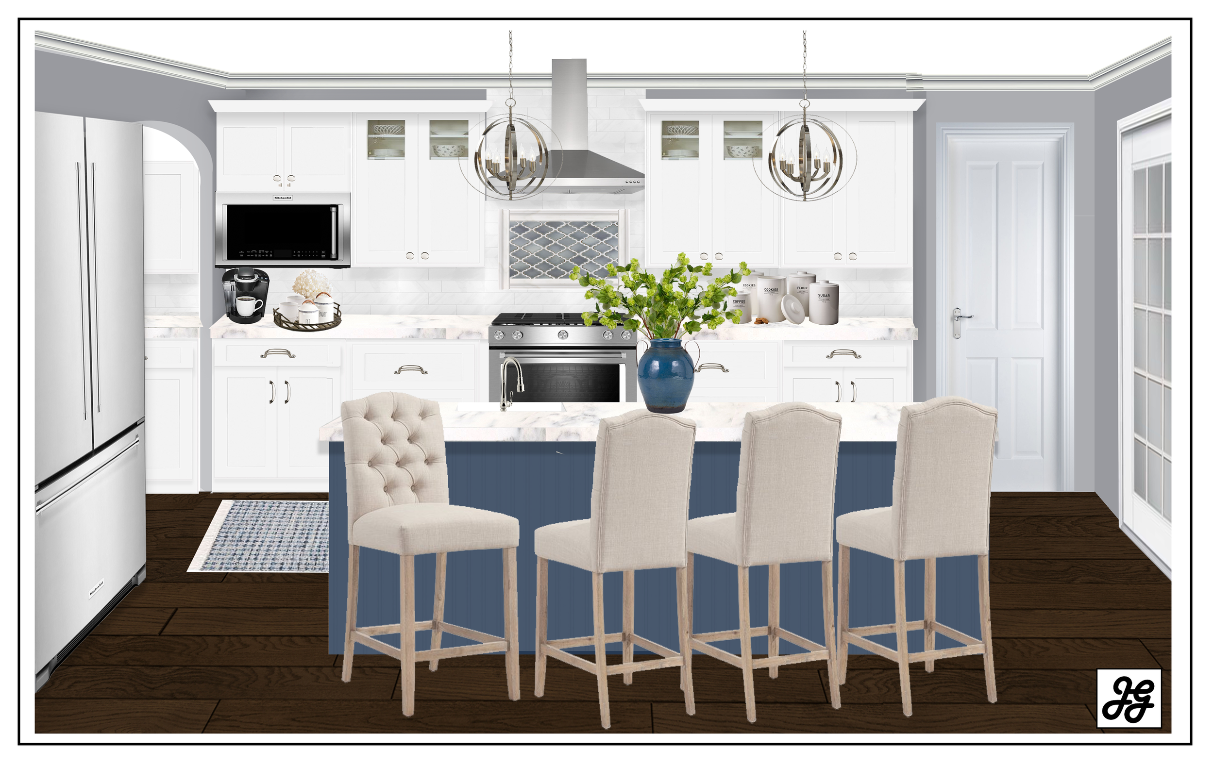 Kitchen Design help- all online! Living Room Blog post, modern ...