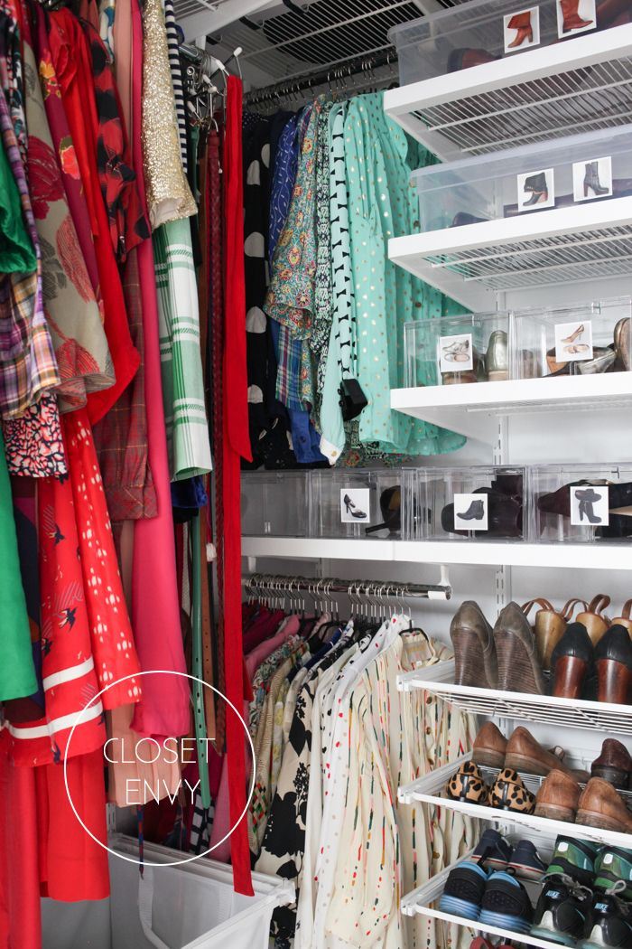 A seriously organized closet great tips