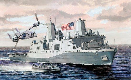 LPD-21 USS New York San Antonio Class Amphibious Ship 1/700 Scale Model Kit