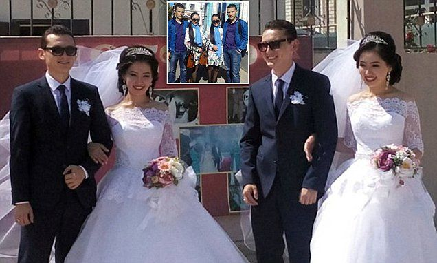 Identical Twin Sisters Marry Twin Brothers And Both Are Pregnant Double Wedding Identical Twins Twins