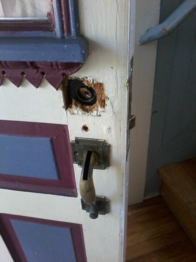 Is it possible to fill in this door hole and put in a new