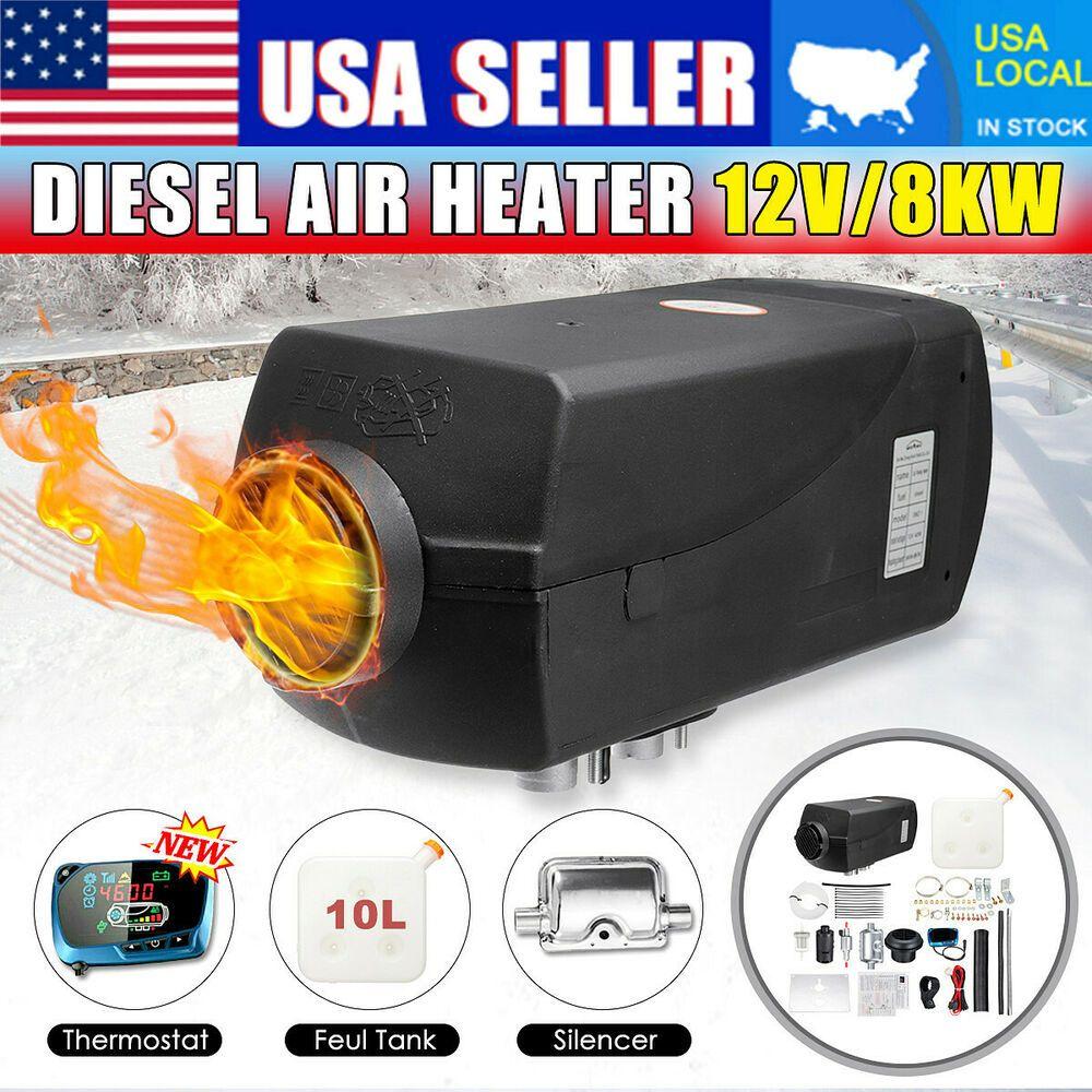 Sponsored(eBay) 8KW 12V Diesel Air Heater Upgrade Blue LCD