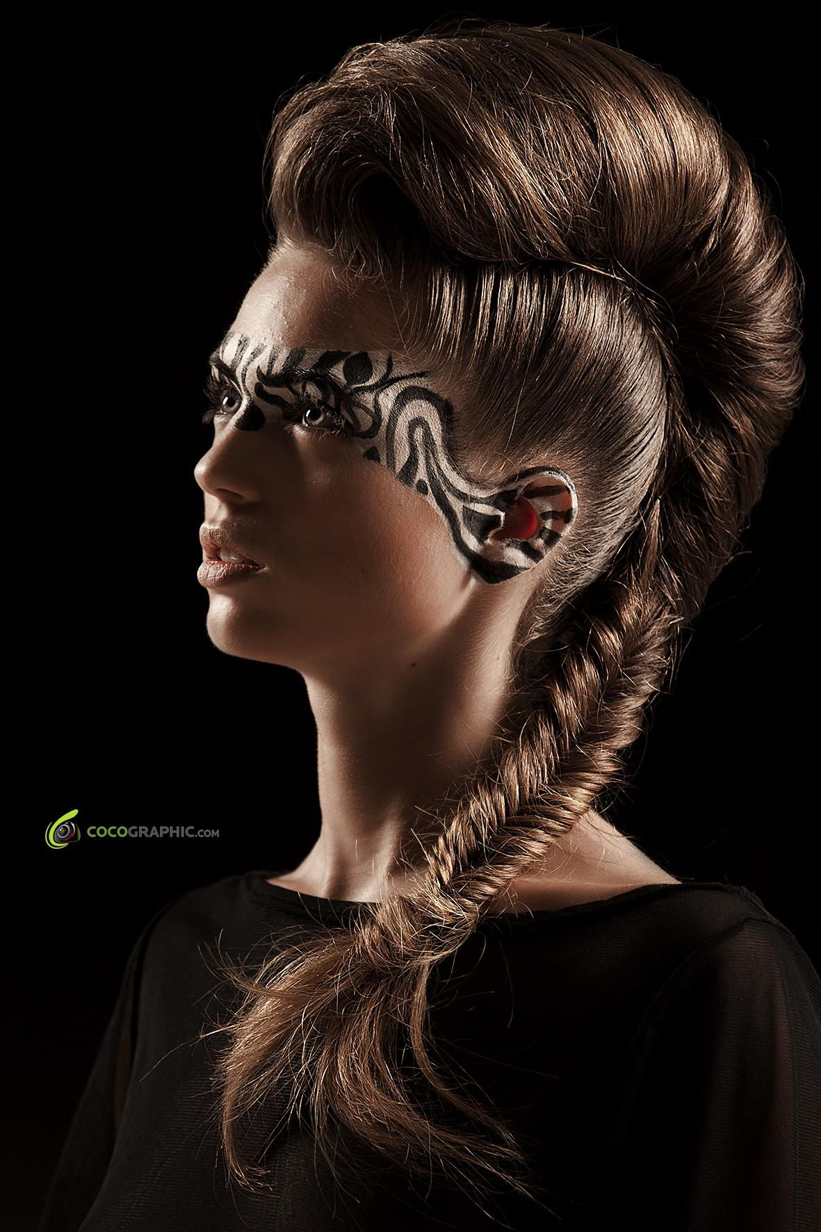 Zebra Schminken Excentric Hairstyle And Makeup Make Up