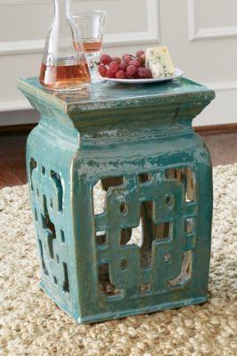Hakoda Garden Stool   Glazed Ceramic Stools, Chinese Ceramic Stool, Outdoor  Stools | Soft