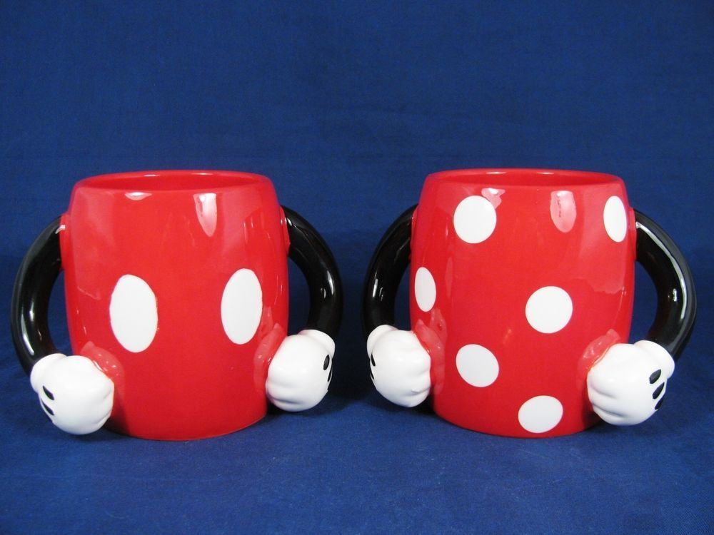 DISNEY Set of 2 Galerie MICKEY& MINNIE Collectible Coffee Mug Cup