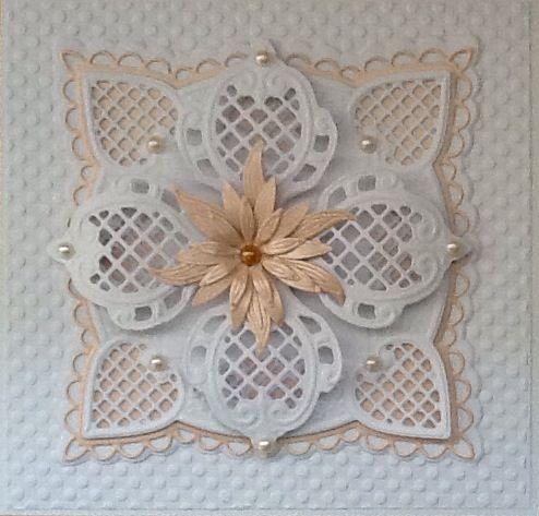 using Marianne dies Spellbinders flower die d-lites www