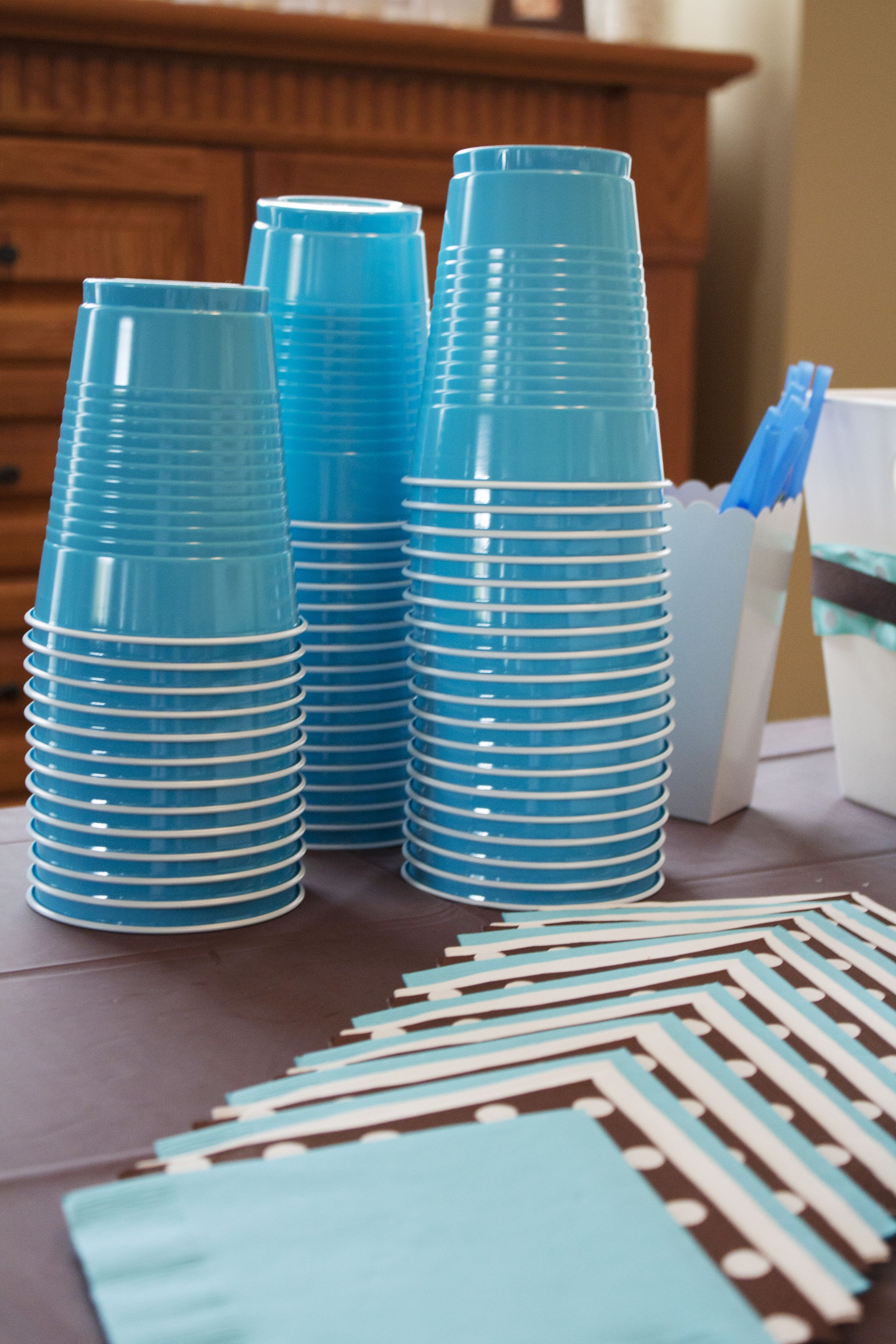 Blue Solo Cups Made Clean Up A Breeze