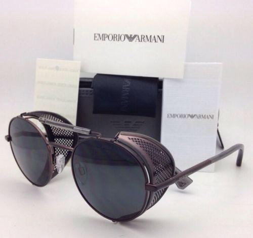 New-EMPORIO-ARMANI-Sunglasses-EA -2017-Z-3054-87-Gunmetal-w-Grey-w-Side-Shields 742b322ea4