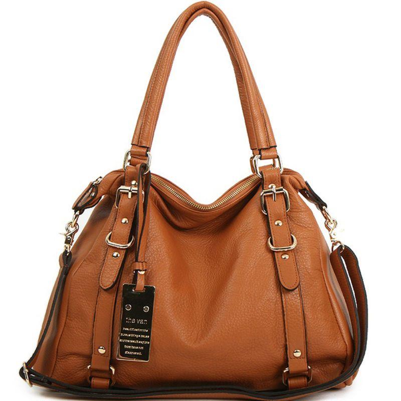 19406c0f6d7 New leather HandBag Shoulder Women bag brown black hobo tote purse designer  lady