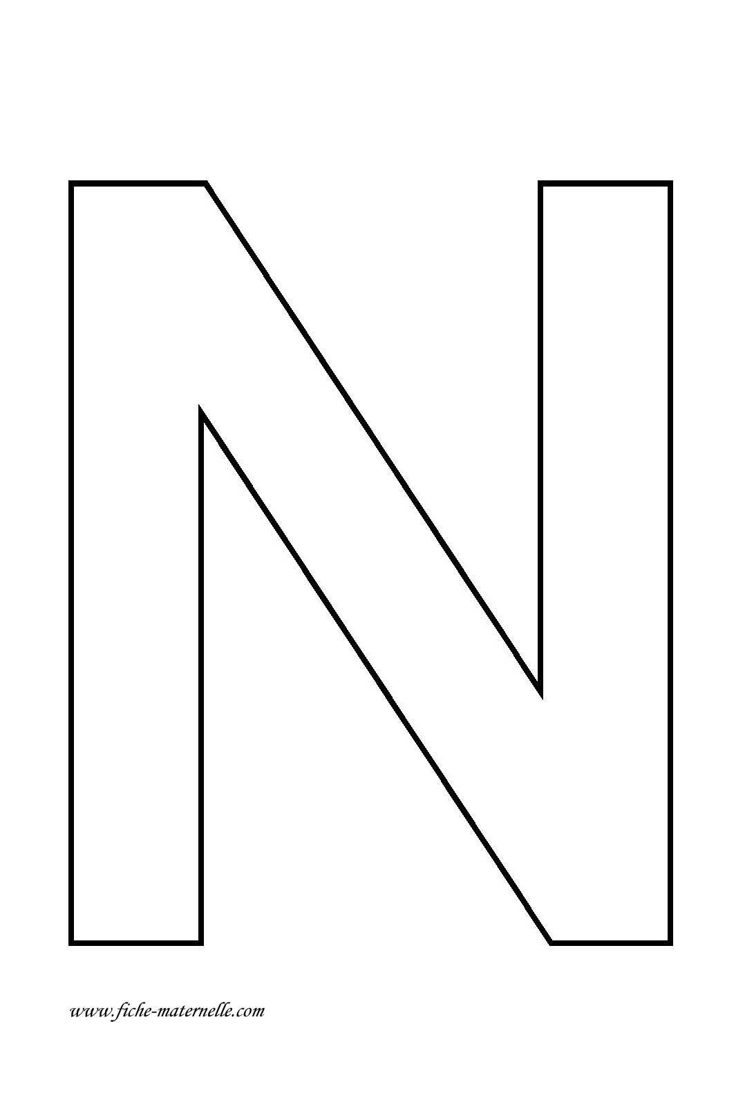 Dessins lettre n ducatifs page 2 documents pinterest alphabet lettres et lettre capitale - Grande lettre alphabet a imprimer ...