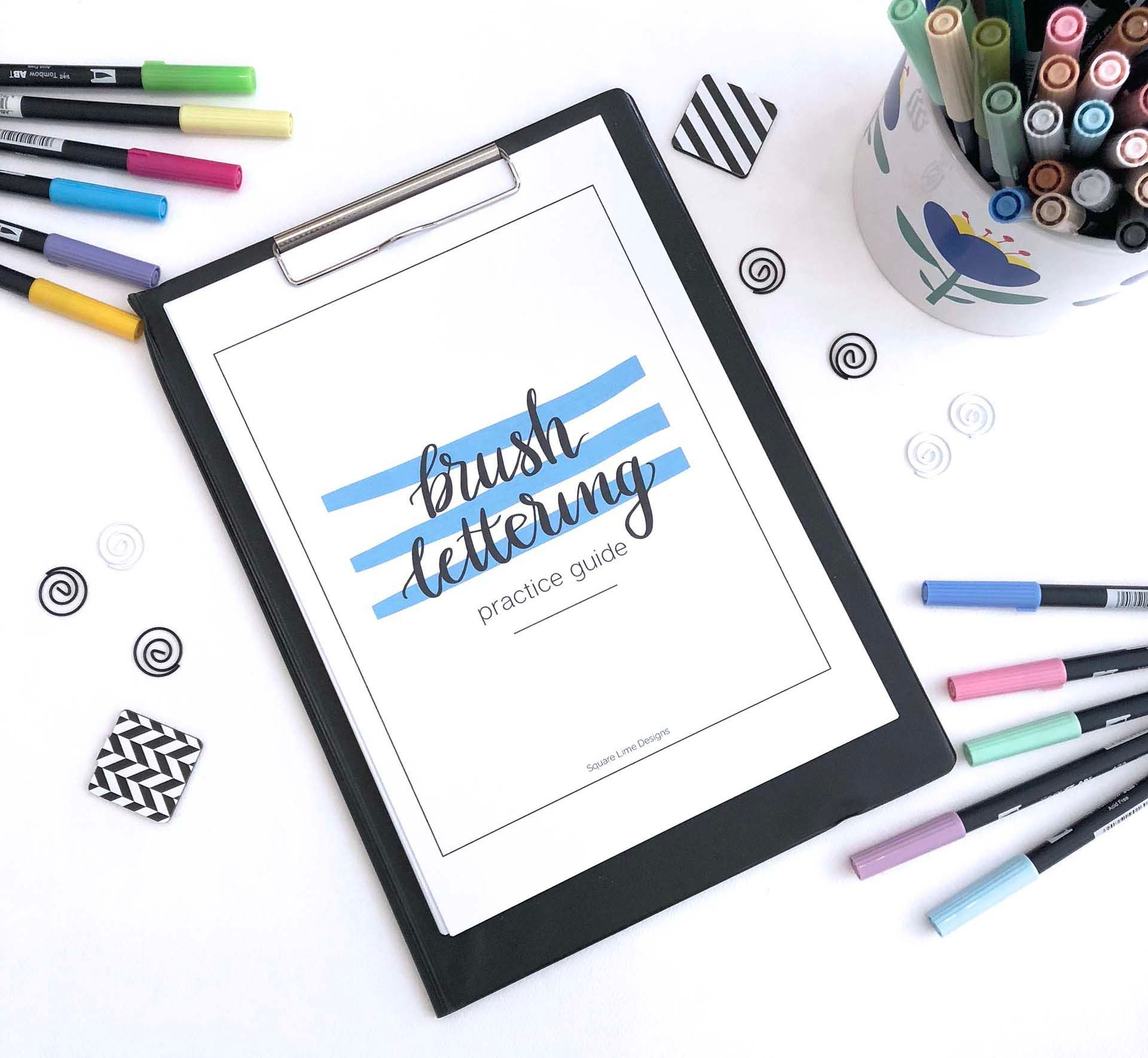 Brush Lettering For Beginners The Basic Tools And