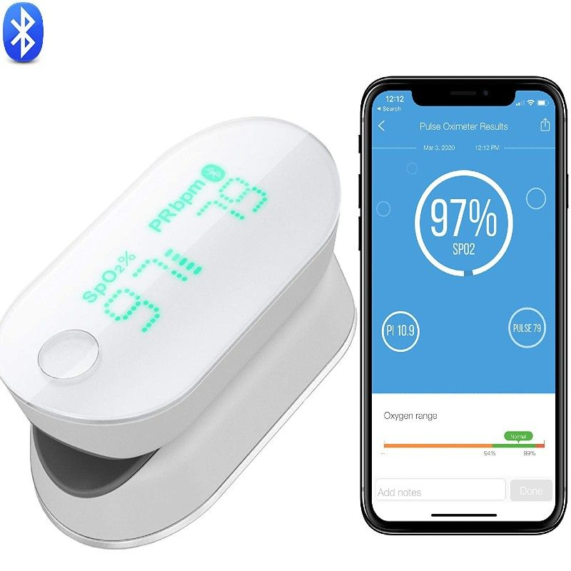 Wireless oximeter with fingertip pulse for iphone