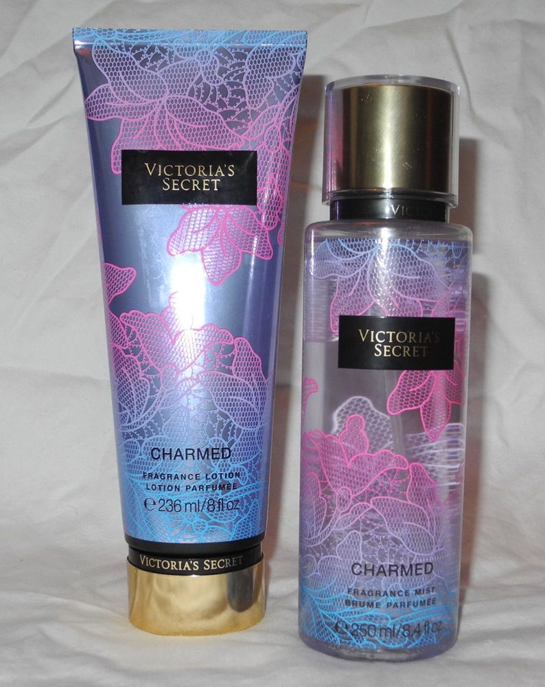 Victoria S Secret Charmed Fragrance Spray Mist Lotion Set 8 4fl