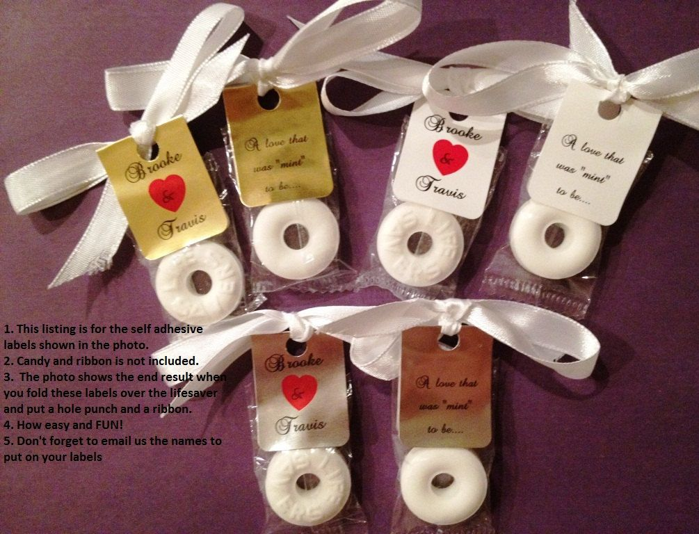 30 personalized lifesaver favor labels for wedding or for Wedding favor supplies