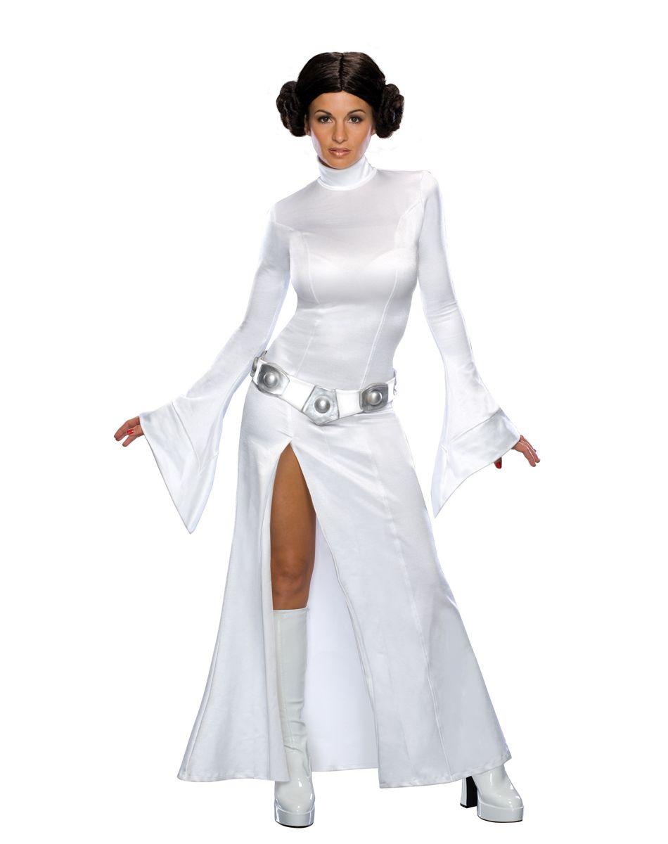 star wars princess leia white dress adult costume | spirit halloween