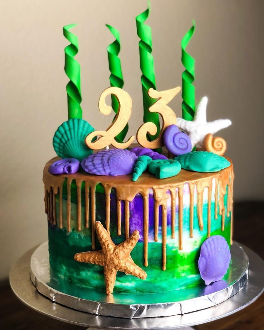 Pin By Sheeren Reen On Design Cake 23 Birthday Cake New