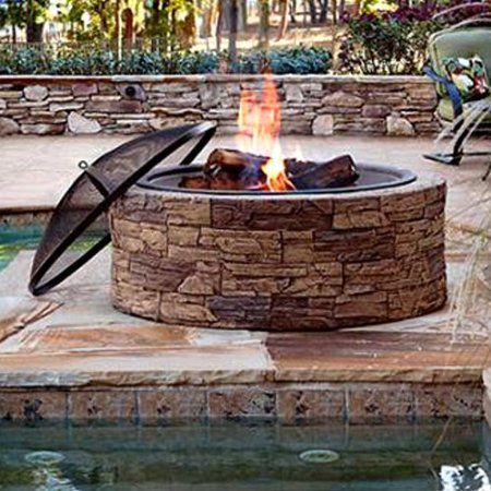 Amazon Com Well Traveled Living 61081 Four Seasons Courtyard 30 Inch Round Fire Pit Patio Lawn Garden Round Fire Pit Fire Pit Wood Burning Fire Pit