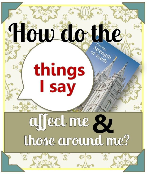 How Do the Things I Say Affect Those Around Me? - The Redheaded ...
