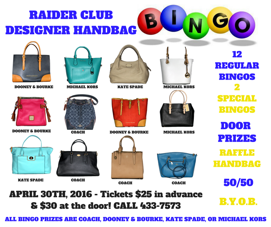 handbag bingo flyer | Football Booster Club | Bingo night ...