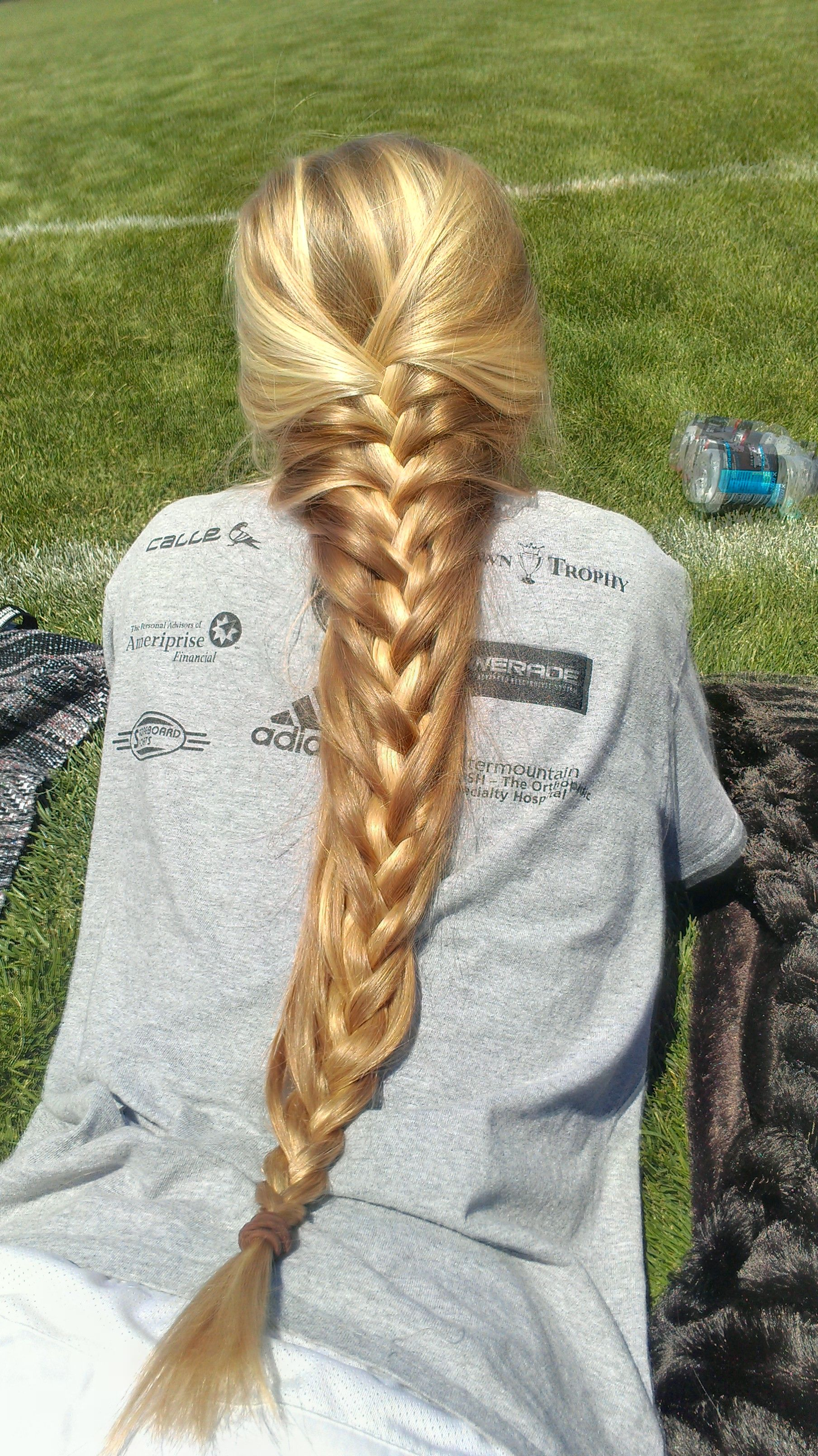 French braid for very long hairs. I love the color