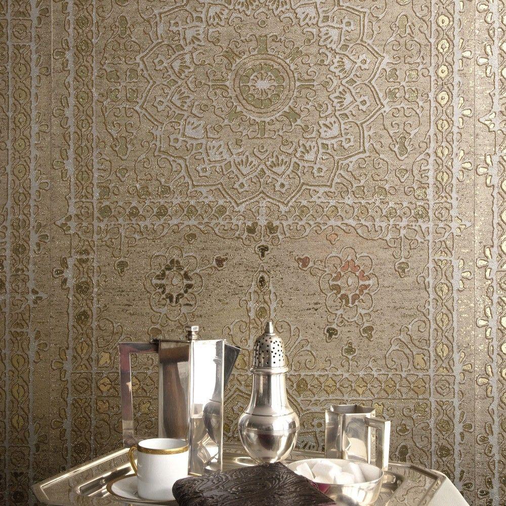 Elitis koh i noor wallpaper wallpaper walls and for Moroccan style wallpaper