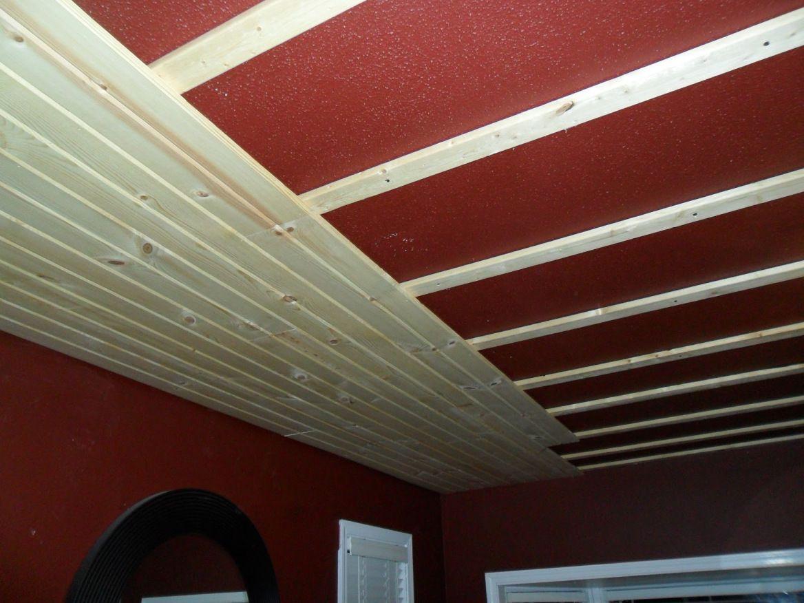 Furring Strips Beadboard Ceiling Beadboard Diy Ceiling