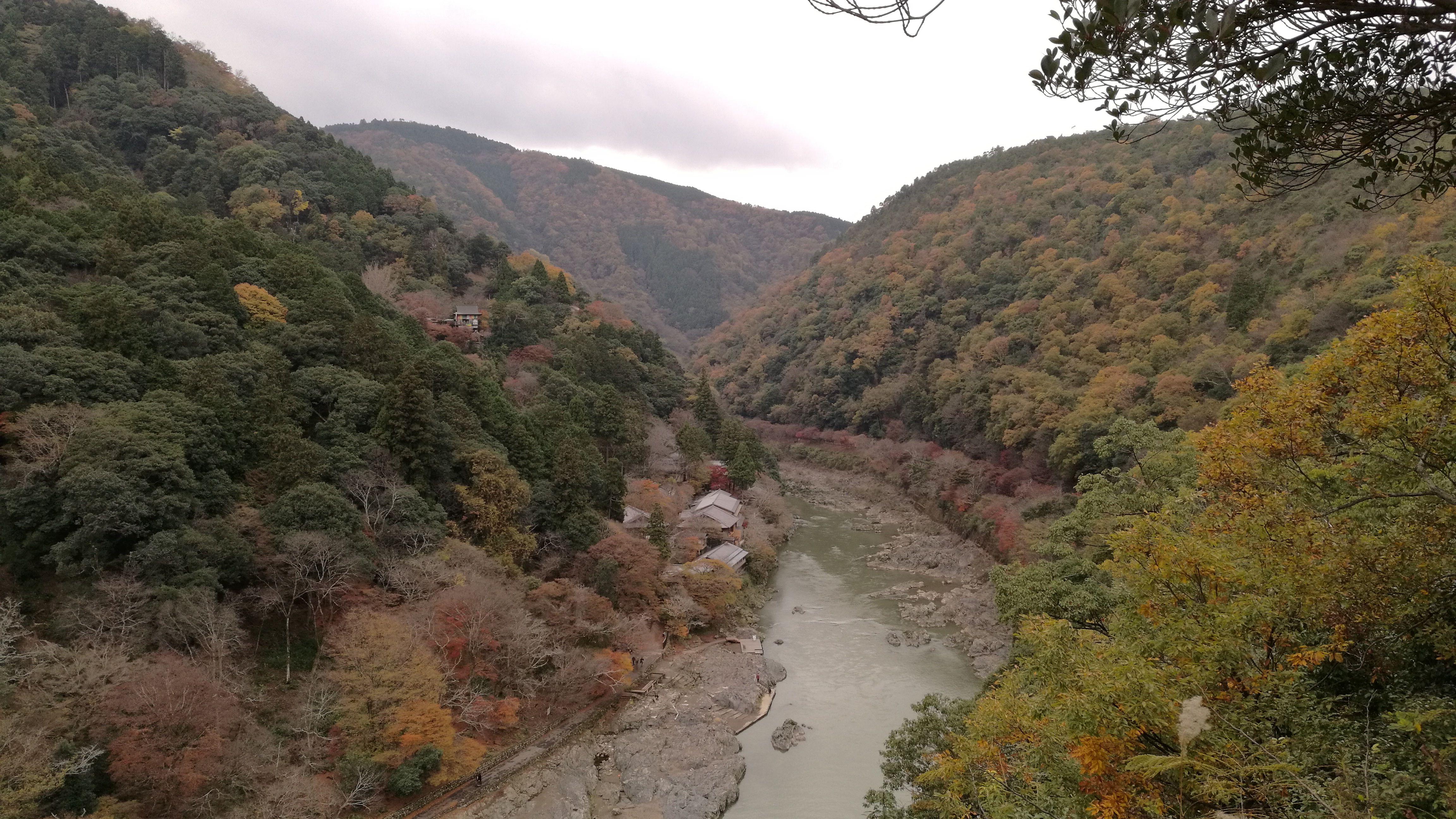 Vistas al río desde la montañita de Arashiyama