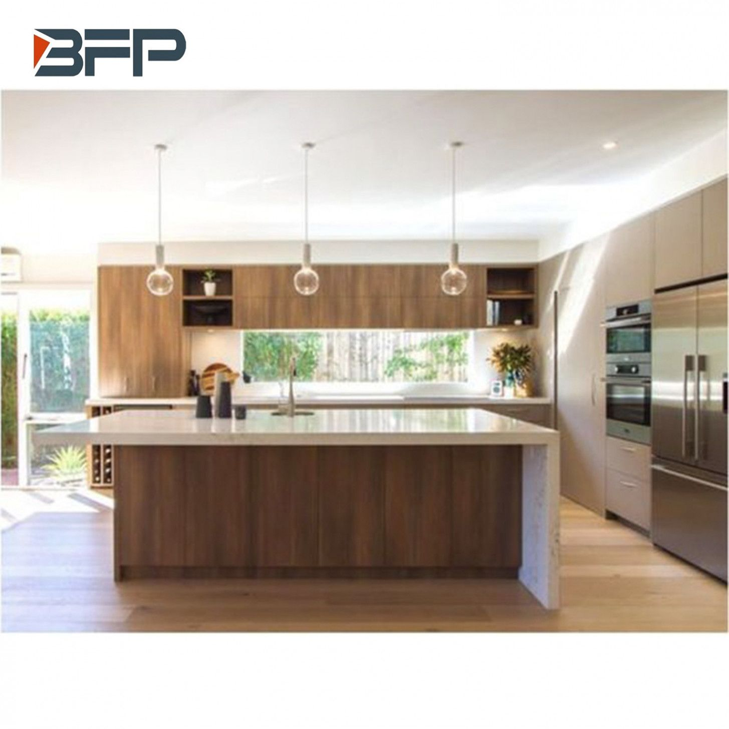 Five Thoughts You Have As Modern Wood Grain Kitchen Cabinets Approaches Laminate Kitchen Cabinets Kitchen Cabinet Design Wooden Kitchen Cabinets