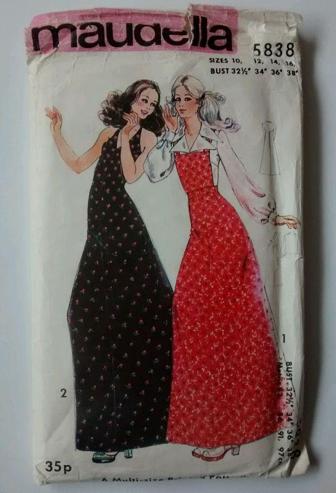 Maudella Sewing Pattern 5838 Maxi Dress Blouse Skirt Size 10 12 14 ...