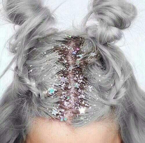 DER Trend Glitzer Haare ❣ Ich weiß noch nicht was ich davon halten soll