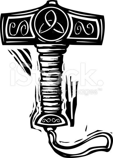 Arte vectorial de stock royalty-free Thor's Hammer Mjolnir