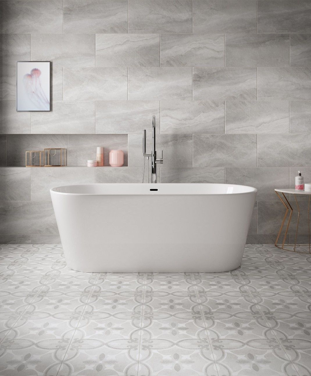 B Q Perla Feature Tile Feature Tiles Bathroom Flooring Bathtub Tile