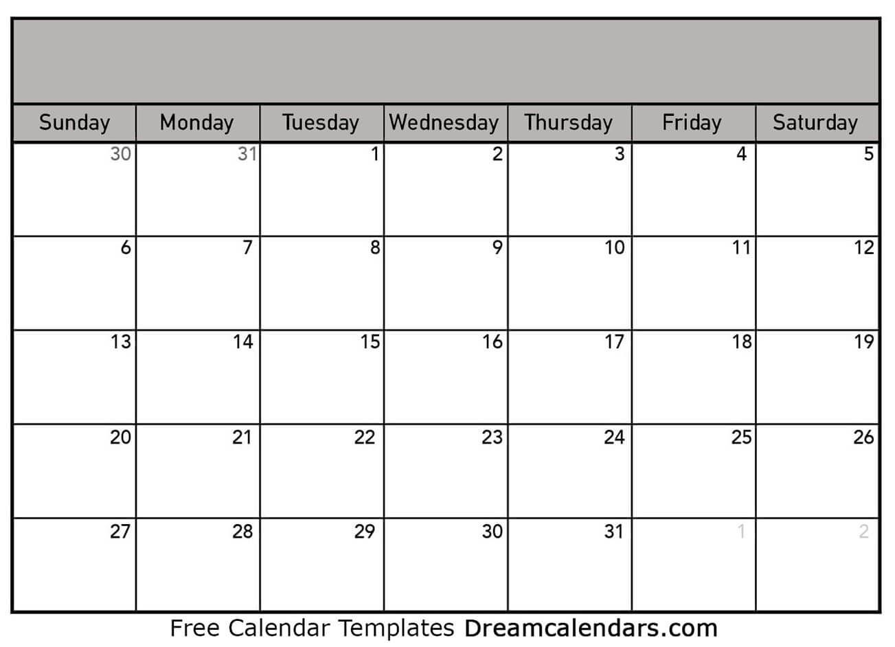 Use This Page Right Now To Print Your Blank Calendar For