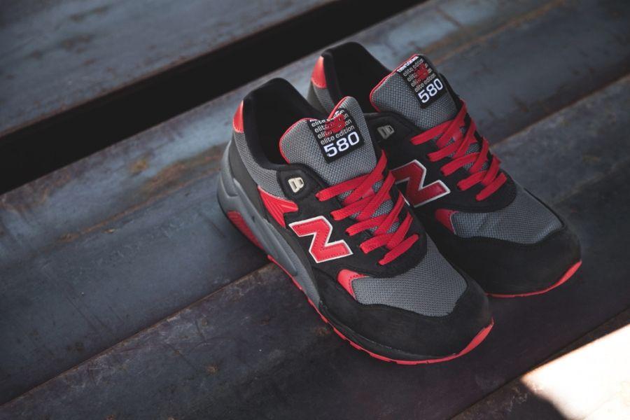 New Balance Mt580 Elite Black Red Grey Sneakernews Com New Balance Sneakers Black And Red