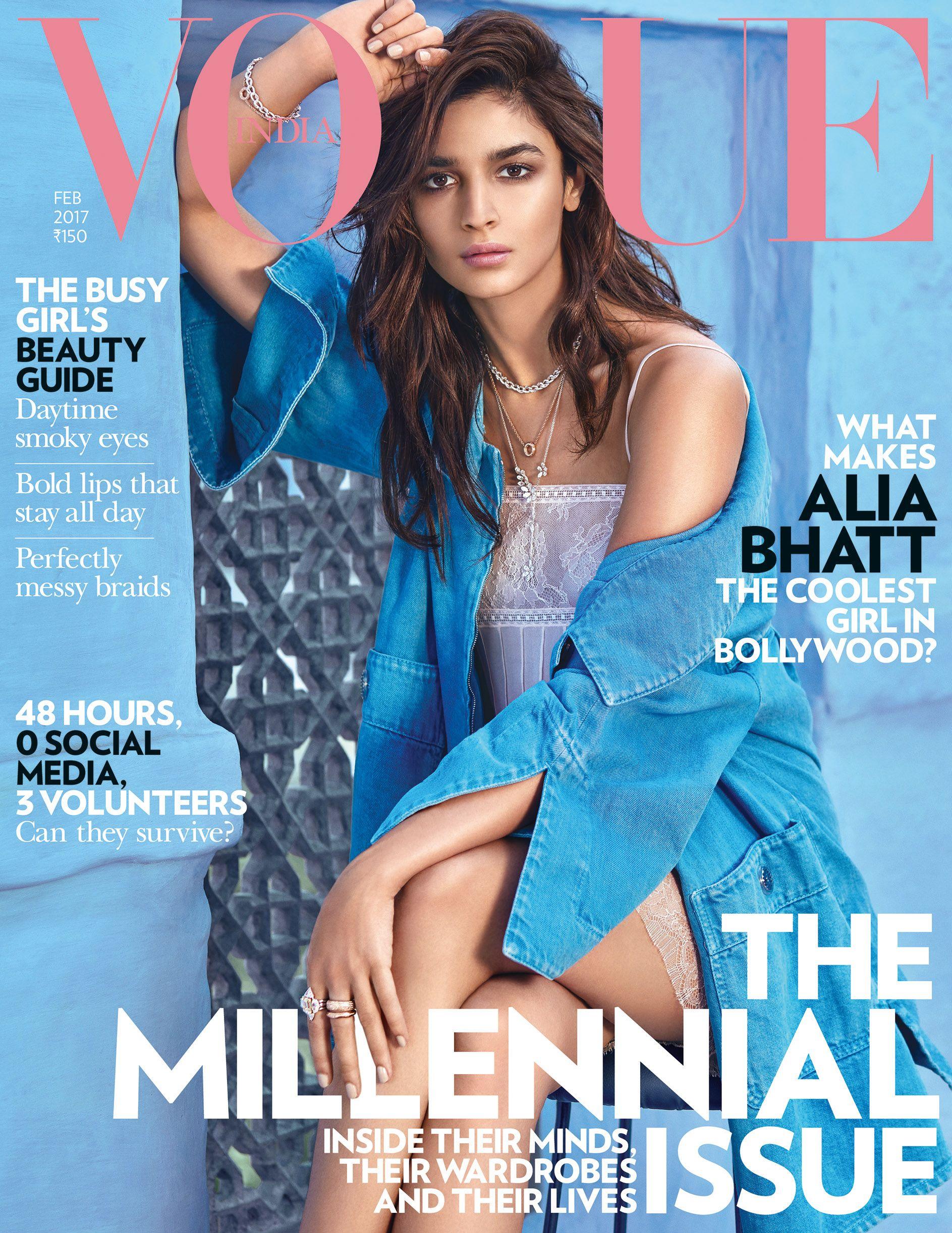 Vogue India, February 2017. Alia Bhatt on the Magazine Cover ...