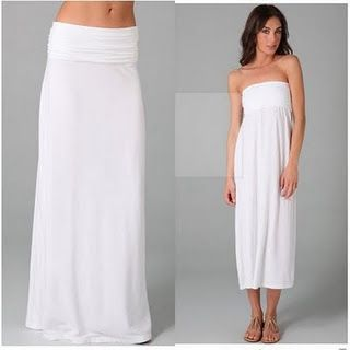 maxi skirt/dress tutorial - maybe do something like this with towels for a DIY robe?