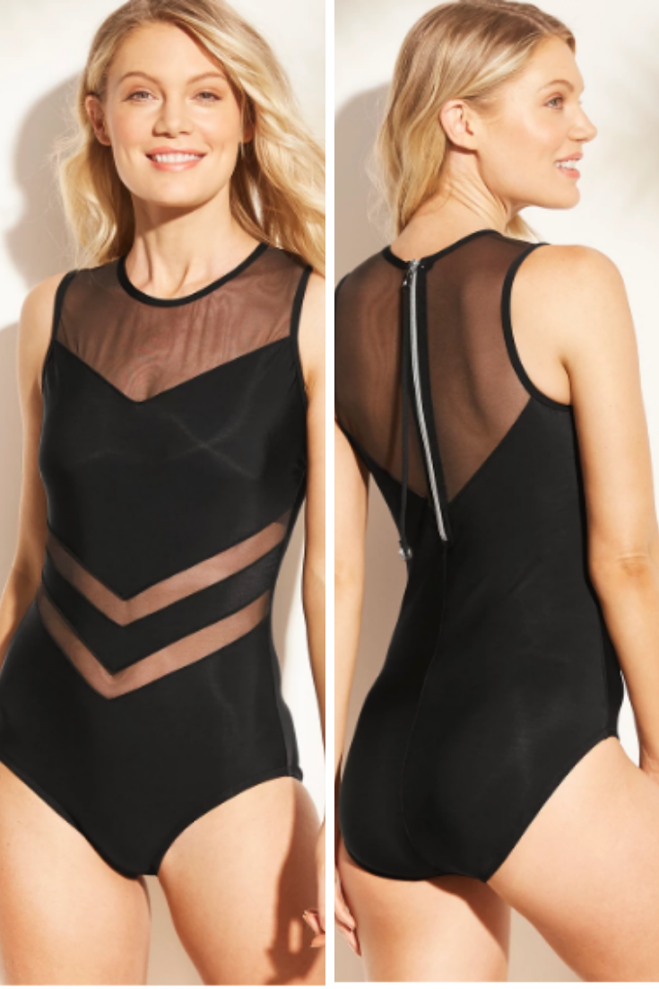 f60b73bb69e Cute Chic Target Women's Mesh Inset High Neck One Piece Swimsuit Sexy Black|  Swimsuit| Fashion Fashion| swimsuits one piece| swimsuits 2019| swimsuits  high ...