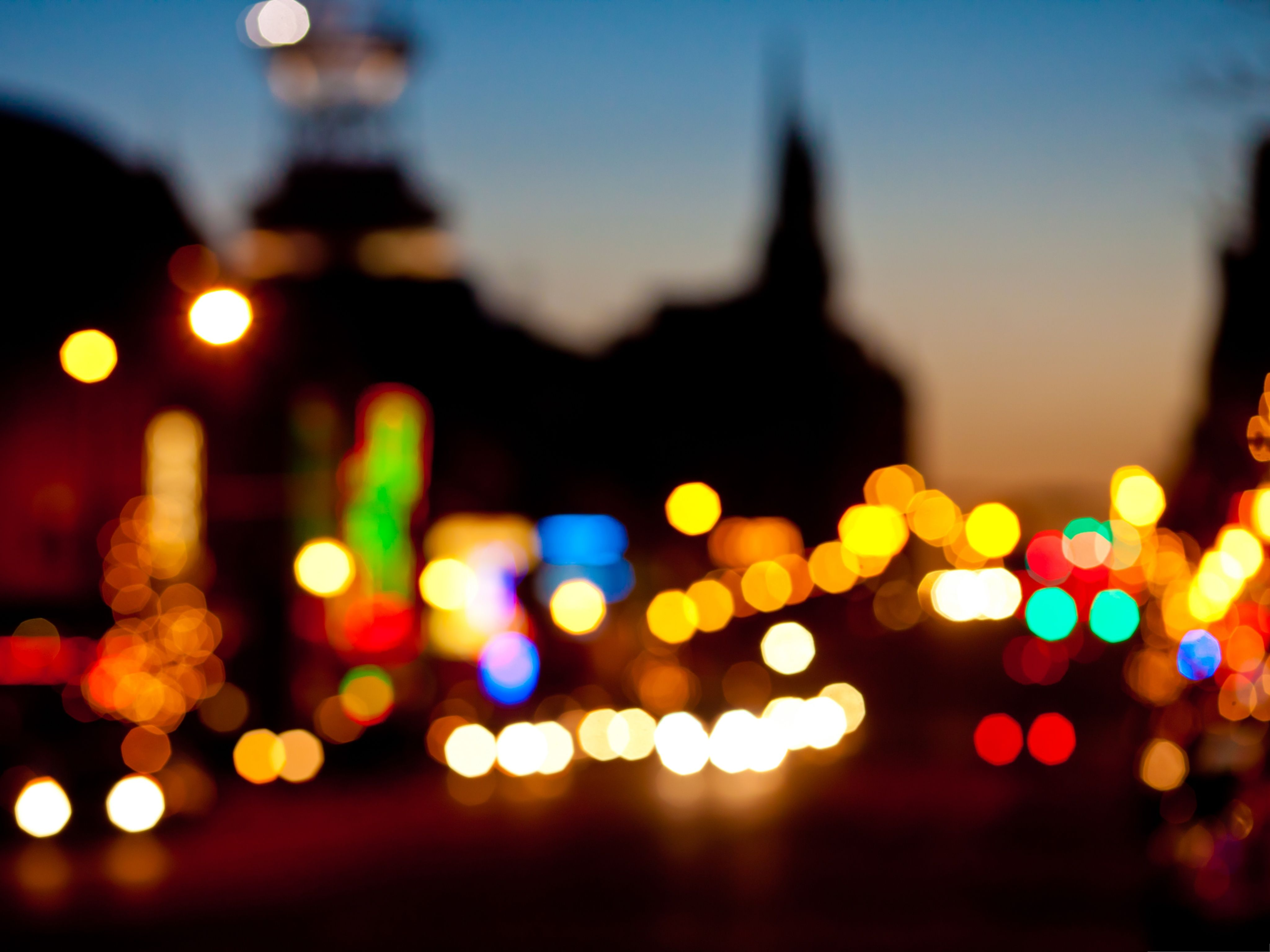 Wallpapers And Backgrounds Night Car Lights Bokeh Effect