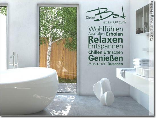 Wandworte Dieses Bad