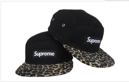 Supreme Leopard Safari Camp Cap Box Logo Hat Black Cap by Supreme c0eed9e5515