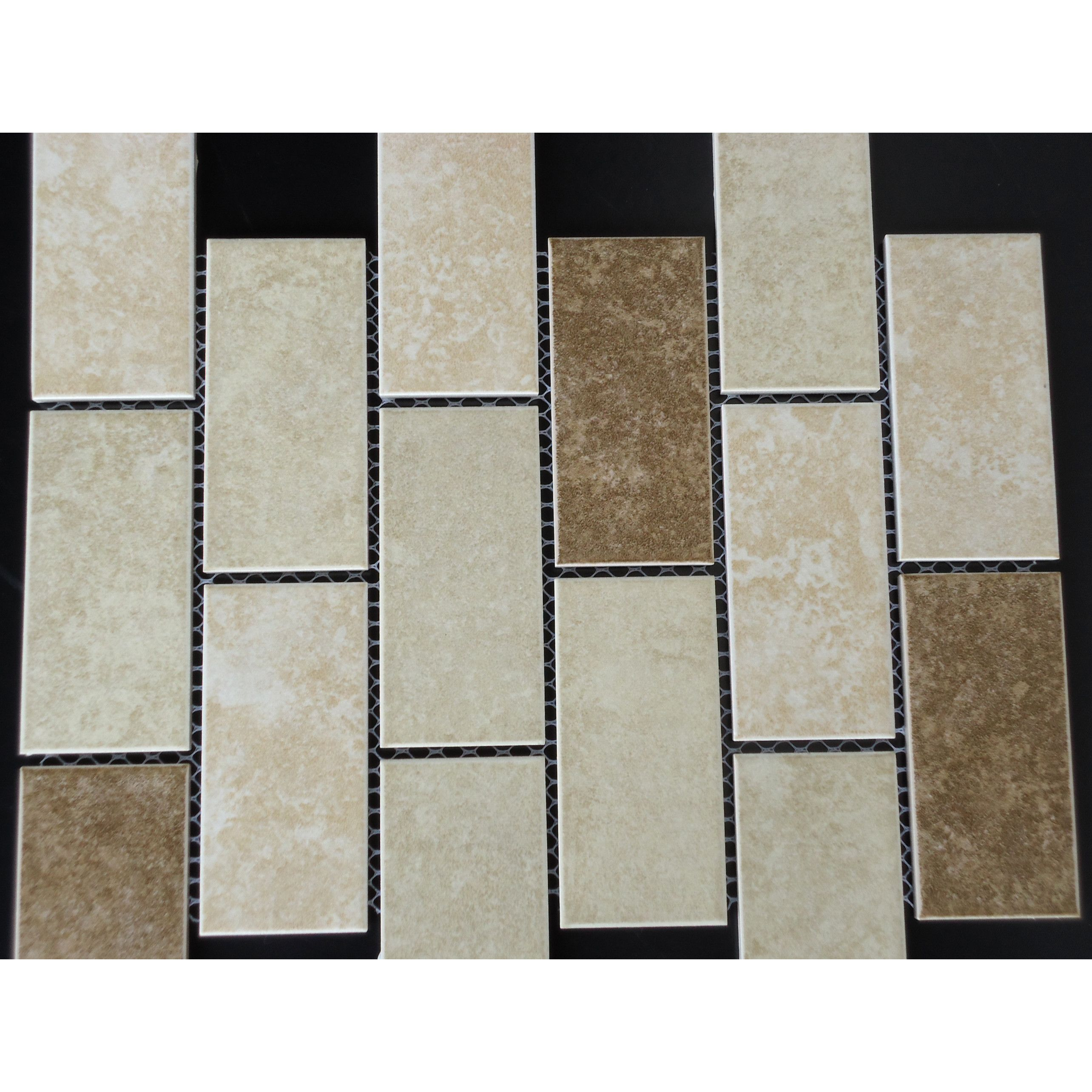 Classique 2 X 4 Porcelain Subway Tile In Beige And Ivory Subway