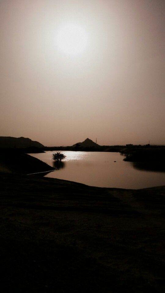 نجران من عدستي تحياتي للجميع ابو علي Outdoor Water Sunset