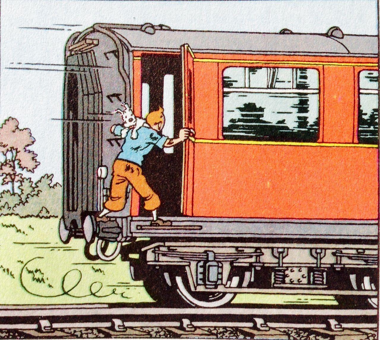 La Isla Negra - Vagón de cola del tren de pasajeros inglés