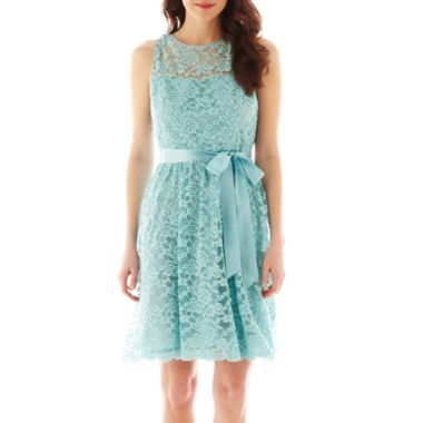fa8bf515307 Simply Liliana Sleeveless Lace Fit-and-Flare Dress found at  JCPenney