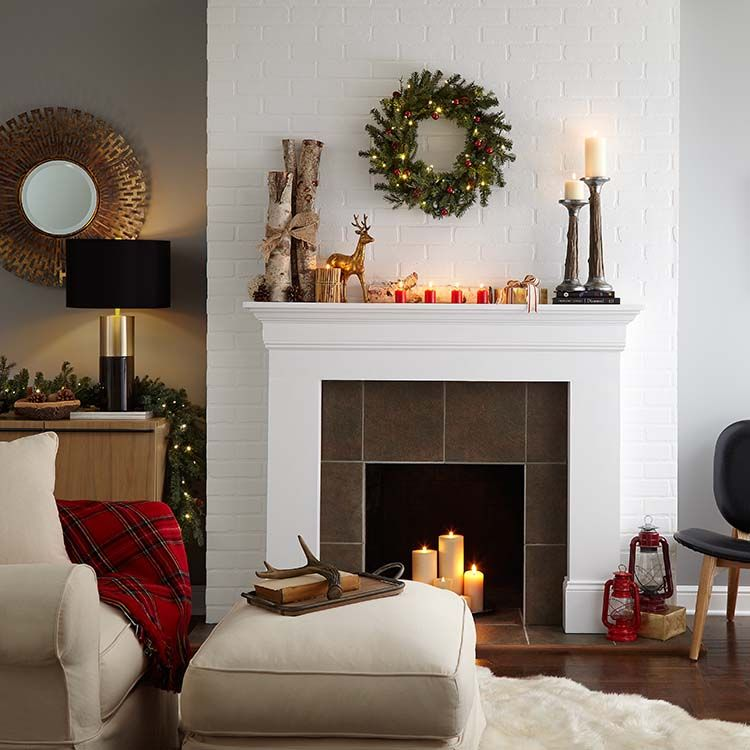 Painting A Brick Fireplace The Home Depot Blog Brick Fireplace